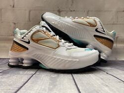Nike Shox Enigma White Green Gold Running Shoes Bq9001-100 Womenandrsquos Size 8 New