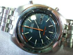 Seiko 5 Sports Speedtimer 7017-8000 Day-date Automatic Navy Dial Watch
