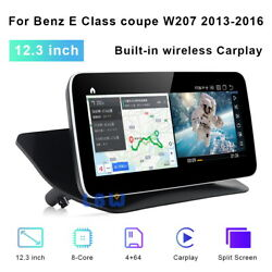 12.3 Inch Android Car Dvd Gps Stereo Radio For Benz E Class Coupe W207 2013-2016