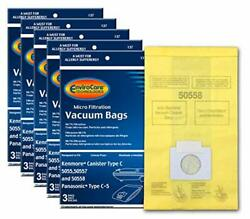 Kenmore Canister Type C Vacuum Bags 15 Bags Fits 5055, 50557, 50558, New