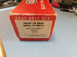 Nos Oem Ford Galaxie Mustang C3rz-6261200-s Black And Chrome Seat Belt Kit 1963-66