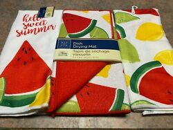 Home Collection Tropical Party Fruit Themed Kitchen Towels and drying mat new