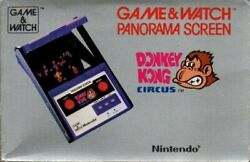 Nintendo Game Watch Panorama Screen Donkey Kong Circus Mk-96 1984 Made In Japan