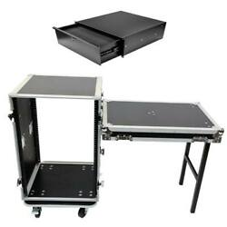 Osp 16 Space 20 D Ata Rack Road Case Lid Table And 4 Space Drawer W/ Insert Foam