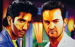 Friends Tv One Of A Kind Ross And Chandler Miami Vice Sharpie Art.