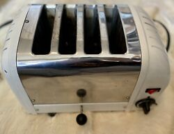 Dualit 4 Br/30 4-slice Toaster White Chrome Made In England 1745 Watts