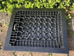 Large Heavy Cast Iron Ornate Louvered Working Heat Grate Antique Window Vent 15