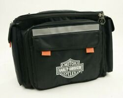 Harley-davidson Insulated Travel Cooler Picnic Set Bag Dishes Silverware Cup