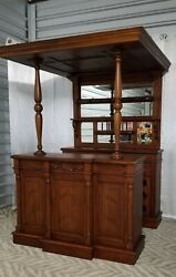 English Canopy Home Bar Tavern Antique Style English Pub Counter Beautiful L@@K
