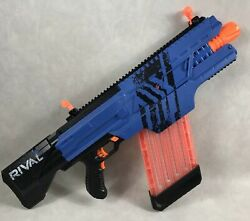 Nerf Rival Khaos Mxvi-4000 Blaster Blue With Magazine Parts Or Repair