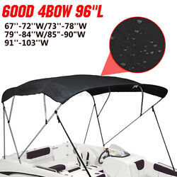 4 Bow Bimini Top Replacement Canvas Cover Boat 8ft Long Without Frame Waterproof