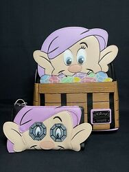 Loungefly Disney Snow White And The Seven Dwarfs Dopey Mini Backpack And Wallet Le