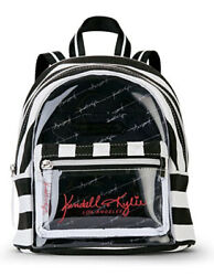 Kendall Kylie Beach Backpack Los Angeles Mini Black And White Stripes $24.99