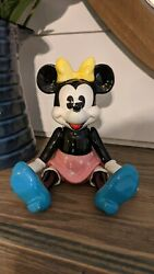 Schmid Musical Minnie Mouse Ceramic Doll Has Moveable Arms, Legs And Key