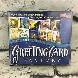 Art Explosion Greeting Card Factory Cd-rom Software 2 Discs Arts And Crafts