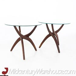 Forest Wilson Mid Century Side End Tables - A Pair - Vintage Mcm