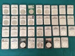 1986-2020 Silver Eagle Dollars Ngc Ms 69 See Full Description11 Special Coins