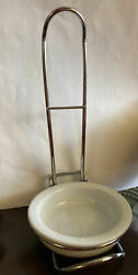 Pampered Chef Spoon Rest 1678 Stoneware And Metal Standing Spoon Holder Retired