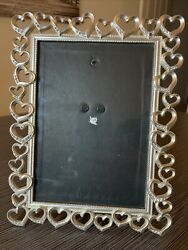 Fetco Home Decor Silver Heart Picture Frame 5x7 in. Free Shipping