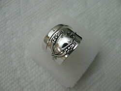 Lunt Sterling Silver Spoon Ring S 8 1/4 Mount Vernon Pat. Jewelry 8084
