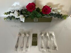Christofle Malmaison 6 Coffee Spoons 135 Cm Long. Silver Plate. New Packed