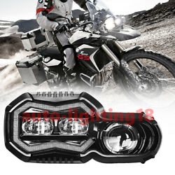 Led Headlamp Assembly Headlight Hi/low Beam W/ Drl For Bmw F800gs F700gs F650gs