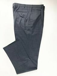 New With Tag 98 Wool Mens Dress Pant Hart Schaffner Marx Pleated Classic 40l
