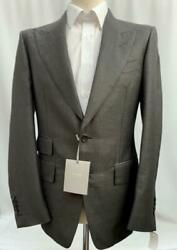 Tom Ford Charcoal Grey Wool Jacket Blazer It48 Us38 New Authentic