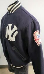 NEW YORK YANKEES BY MITCHELL amp; NESS WOOL BOMBER JACKET 1961 1964 LOGO LARGE