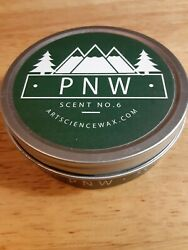 PNW Scent No. 6 Soy Travel Candle long burn Time by Art Science Free Shipping