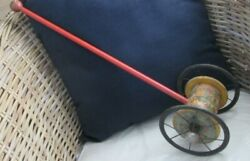 Vintage Early 1900's Childs Pull Toy - Wood And Metal