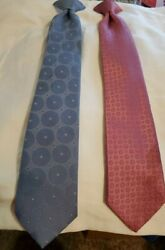 Thw Men's Shop Sears Perma Prest Fashion Collection Clip On Mens Ties Lot Of 2