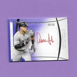 2017 Topps Diamond Icons Red Ink Autographs Purple Parallel Aaron Judge 10/10