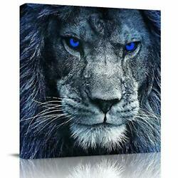 Canvas Wall Art Painting for Home Office Bathroom Decoration 3D Lion Head Framed