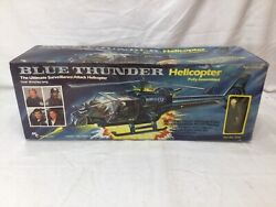Rare 1983 Mtc Toys Blue Thunder Helicopter And Pilot Figure Boxed Complete Freeshp