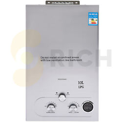 Tankless Hot Water Heater 10l With Shower Head Kit Made Of Thickened Stainless