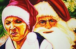Friends Tv One Of A Kind Pheobe And Chandler Christmas Sharpie Art.