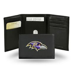 Baltimore Ravens Nfl Embroidered Trifold Wallet