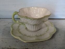 Dainty Belleek In Retrospect 2002 Cup And Saucer