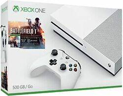 Xbox One S 1tb Console Battlefield 1 Bundle Slim Very Good 2z