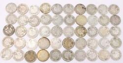 50x Canada 10 Cents 22x1929 20x1930 And 8x1931 50-coins Good To Very Good
