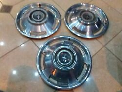 1965 Chevrolet Hub Caps 13 Set Of 3 Chevy Corvair Hubcaps 1965 Corvair
