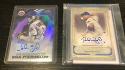 2021 Topps Tier 1 David Wright 10/175 And Topps Fire Noah Syndergaard 30/50 Auto