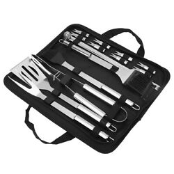 21pcs/set Bbq Outdoor Stainless Steel Barbecue Grill Tools Utensils Kit Kitch Us