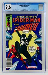 MARVEL TEAM UP #141 CGC 9.6 Newsstand White Pages First BLACK Costume SPIDER MAN