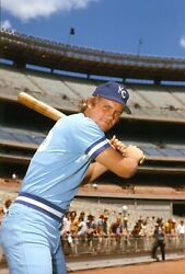 George Brett 1977 Kc Royals Photo Color Negative 2.5x3.5 Crystal Clear