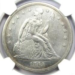 1863 Seated Liberty Silver Dollar 1 - Ngc Xf Detail - Civil War Date Coin
