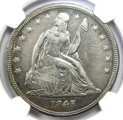 1845 Seated Liberty Silver Dollar 1 Coin - Certified Ngc Xf Detail - Rare Date