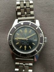 Great Working Vintage Menandrsquos Sicura Divers Watch Used Original Band And Good Patina