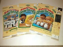 3 1985 Cabbage Patch Kids Cereal Boxes From Ralston Vintage Cpk
